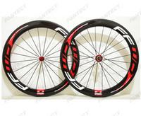 Wholesale ffwd rims for sale - Group buy 700C mm depth Road carbon wheels mm width Road bike clincher tubular carbon wheelset U shape rim k glossy finish FFWD red decals