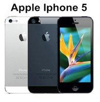 1gb móvil al por mayor-Teléfono celular Apple iPhone 5 Dual Core 16GB / 32GB 8MP Cámara de 4.0 pulgadas WIFI GPS 3G IOS reacondicionado Teléfono móvil