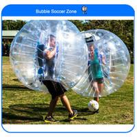 fútbol burbuja para la venta al por mayor-Envío gratis 0.8Mm Pvc 1.5M bola de parachoques del aire Zorb Ball Bubble Football Bubble Soccer Zorb Ball para la venta