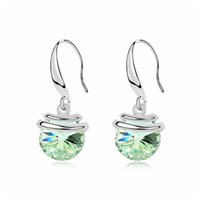 Wholesale Earing Cuffs - Earing 2018 Promotion Pendientes Brincos Grandes For Women Sensation Pierced Earrings Crystals from SWAROVSKI
