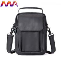 мужские кожаные сумки для талии оптовых-MVA Hot sale men waist bag with 100% genuine leather men chest bag for fashion shoulder mens crossbody bags