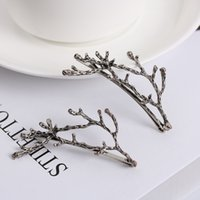 Wholesale hair styling tools pins for sale - 10pcs Fashion Women Girls Metal Branch Leaves Hairpin Barrettes Bobby Hair Clips Pin Styling Tools Accessories