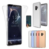 Wholesale body flexible - 360 Degree Full Body Protection Flexible Soft TPU Case Cover For iPhone X 6 6S 7 8 Samsung S8 S9 Plus Note Note8