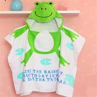 toalha de banho venda por atacado-Toalha de casa 100% algodão vestido de praia bebê criança roupão de banho toalhas de praia manto capa infantil animal dos desenhos animados com capuz toalha de banho do bebê