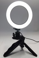 dslr fotga toptan satış-Fotoğraf Halka LED 14.5 cm Fotografik Aydınlatma + Tripod Telefon Video Fotoğrafçılığı Halka Işık USB Hattı 3000 k-6000 k Beyaz Sarı Renk