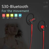 встроенный микрофон с микрофоном оптовых-Новые наушники Bluetooth S30 спортивные беспроводные Bluetooth-гарнитура музыка встроенные микрофоны стерео наушники с шейным ободом для универсального