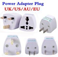conectores do adaptador de corrente alternada venda por atacado-Adaptador Universal de Viagem AU EUA UE para o REINO UNIDO Adaptador Conversor, 3 Pinos AC Plug Power Adapter Conector