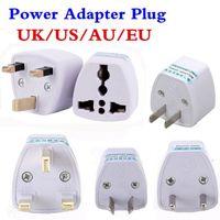 pin adaptador de ca al por mayor-Hopeboth Adaptador de viaje universal Convertidor de adaptador AU EE. UU. a Reino Unido, conector de adaptador de enchufe de corriente alterna de 3 pines