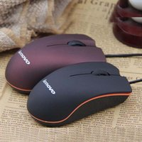 Wholesale wholesale computer mice - Brand mouse new Lenovo Mini Wired 3D Optical USB Gaming Mouse Mice For Computer Laptop Game Mouse with retail box 20pcs DHL Ship Free