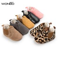 banda de piel de niña al por mayor-invierno cálido con pieles bebé mocasines zapatos bebé banda elástica niñas niños moda botas botas suave suela de goma