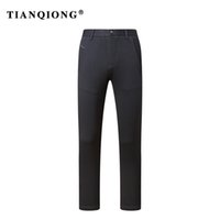 бренды одежда фарфор оптовых-TIANQIONG Mens pants size 29-40 black male suit pants slim fit business trousers  man Winter 2018 china imported clothes