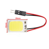 glühbirne adapter auto groihandel-T10 Girlande COB Chip 18SMD LED-Licht Lesung Karte Lampe Lampe Auto Licht Auto Innenbeleuchtung Panel Girlande Dome Adapter 12V