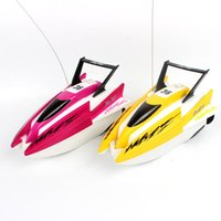 Wholesale electric boat controller resale online - Cartoon RC Boats Colour Plastic Remote Control Electric Water Toy Model Ship Kids Toys Children Gift ae UU