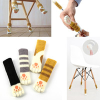 Wholesale Table Leg Foot - Knitted Cat Claw Chair Foot Cover Colourful Non Slip Table Legs Sleeve Hot Sale 0 99qh C R