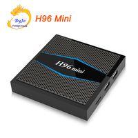 caja inteligente dongle android al por mayor-H96 Mini 2G 16G 4K caja 2.4G 5GHz Wifi Amlogic S905W set Top box Smart tv Android 7.1 Android TV caja H96