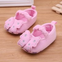 Wholesale shoes for rabbits resale online - Pink Spring Baby First Walkers Prewalker Soft Cartoon Rabbit Anti Skid Toddler Stickers Shoes For Girls cm cm cm