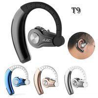 manos libres inalámbrico bluetooth auriculares estéreo al por mayor-T9 Auriculares inalámbricos Bluetooth para auriculares V4.1 Manos libres para auriculares estéreo con MIC Auriculares de auto para teléfonos inteligentes con paquete minorista
