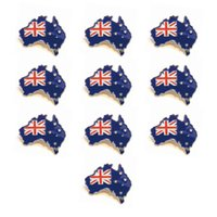 Wholesale flag pin badges - wholesale new style Australia flag lapel pin flag badge for festival flag pin
