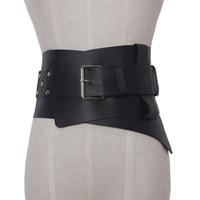 ceinture corset en métal femmes achat en gros de-Nouveau Femmes ultra Plus large ceinture accessoires Faux Cuir corset élastique Ceinture Avant Boucle en métal Taille Fille Vêtement Décoration