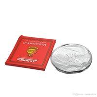 ingrosso carta in alluminio-HoneyPuff 50 pz / pacco 0.02mm Alluminio Traforato Narghilè Shisha Foil Per Narghilè Foglio di Carta Narghilè Narghilè Ciotola Shisha