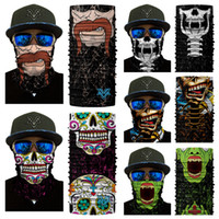 Wholesale pink zombie - 12 Styels 3D Clown Flame Skull Zombie Bearded Printing Seamless Headscarf Cycling Fishing Yard Working And Sun UV Protection Free DHL G711F