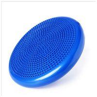 denge diskleri toptan satış-Mavi Büküm Denge Disk Şişme Ayak Masaj Bel Çırpma Kurulu Yuvarlak Rulman Gücü Fitness Egzersiz Pad Popüler 21 9yg