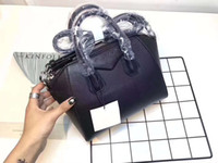 Wholesale designer real leather tote bags - freeship women Genuine Leather bags handbags trapeze bag tote fashion designer shoulder bags real leather high quality female bag