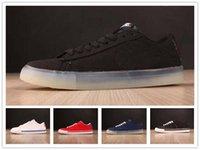 Wholesale grey blazers for men - New Design blazer Style Designer skatebording white black Blaze for men women running shoes size 36-45