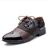 свадебное платье для свадьбы оптовых-Мужские бизнес офисные туфли из натуральной кожи джентльмены класса люкс свадьба черно-коричневые туфли большие дышащие туфли большого размера48 c4