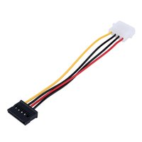 Wholesale 15 Serial - 1pcs Serial ATA SATA 4 Pin IDE to 15 Pin HDD Power Adapter Cable Hard Drive Adapter Male to Female Cable Free Shipping