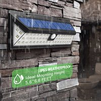 Wholesale pathway wall lighting resale online - IP65 Waterproof LED Solar Light SMD White Solar Power Outdoor Garden Light PIR Motion Sensor Pathway Wall Lamp