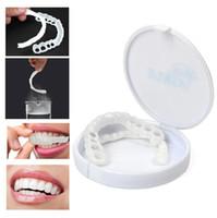 ingrosso denti che imbiancano i denti-Odontoiatria estetica Snap On Instant Perfect Smile Comfort Fit Flex Denti Veneers Bretelle dentali Protezione dentale Sbiancante Protesi con scatola