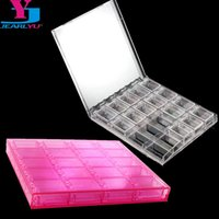 plastic container nail NZ - 20 Slots Plastic Empty Storage Box Removable Nail Art Rhinestone Decorations Container Tools Jewelry Beads Display Case Manicure