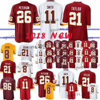 2b87ac4dd 11 Alex Smith Washington Redskins jerseys 26 Adrian Peterson 91 Ryan  Kerrigan 21 Sean Taylor 8 Kirk Cousins 29 Guice 86 Reed jersey 2018 new
