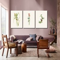 birnen bild großhandel-Tropischer Regenwald Aquarell Pflanzen Blumen Vogel Natürlichen Stil Leinwand Malerei Leinwanddruck Kunst Poster Wandbild Home Decor
