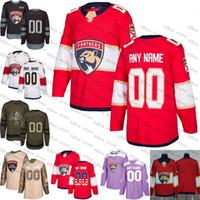 ingrosso youth hockey jersey-2018 Custom Mens Women Youth Florida Panthers 1 Roberto Luongo 16 Aleksander Barkov Jersey Embroidery Logos taglia S-3XL