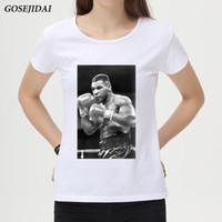 Wholesale posters women resale online - 2018 Summer Fashion Mike Tyson Poster Printed Women T Shirt Short Sleeve Retro Popular Design T Shirt Hipster Cool Tops C37