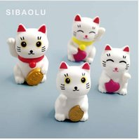 Wholesale lucky cats for sale - Group buy Lovely Cute Cartoon Lucky Cats Micro Landscape Kitten Microlandschaft Pot Culture Tools decorative Garden Decorations Miniatures