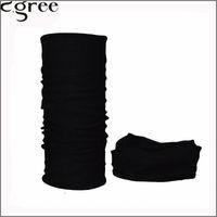 шейный платок bandana оптовых-C.gree 2017 Multifunctional Seamless Bandana Custom Black Headbands Solid Black Bandana Scarf Neck Tube Scarf Bufanda Magic 74
