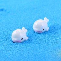 ingrosso fate in vendita in miniatura-Vendita bianco delfino animali fairy garden miniature gnome moss terrari decorazioni in resina artigianato bonsai per la decorazione domestica accessori
