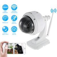 zoom wifi wasserdicht großhandel-KKmoon 1080P Wireless WiFi IP Kamera Im Freien HD PTZ IP Kamera 2,7-13,5mm 5X Optischer Zoom Autofokus Wasserdichte Sicherheit
