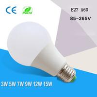 Wholesale light bubbles for sale - Group buy 360 Degree LED Globe bulbs Lights E27 B22 Lamp bubble w w w w high bright A19 A60 LED bulbs AC85 V