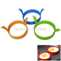 Wholesale fried egg rings free shipping - A26Hot!!!new high quality Kitchen Round Ring Silicone Egg Rings Fry Frier Fried Mould Tool free shipping IA970 P