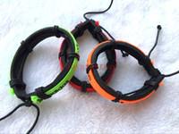 bracelete de charme de surf venda por atacado-Venda por atacado - 30pcs Algumas marcas de moda logotipo AD pulseiras de couro Pulseira Surf Lots Mix Ordem Pulseira Presente