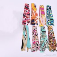 Wholesale headscarf styles - Women Wrist Twilly Bag Handle Decoration Fashion Bow Ribbon Headscarf Tied Many Style And Colors Scarves 1 5qn BZ