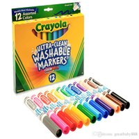 sanat projeleri toptan satış-Crayola 12 renk Renkli Kalemler Sanat Araçları Sanat Projeleri için Mükemmel ve Yetişkin Boyama Kalemleri E1944