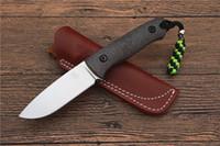 cuchillos de hoja fija envío gratis al por mayor-Jabalí cuchillo VG10 hoja fija mango de fibra de carbono que acampa cuchillo de caza herramientas EDC al aire libre regalos regalos envío gratis