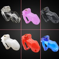 Wholesale sound sm toy resale online - Male Chastity Belt resin Cock Cage Chastity Devices Sex Toys with Penis Rings For Men SM Fetish Sex Product A239