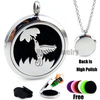 New humming birds (30mm)   Essential Oils Diffuser Locket Necklace with Pads Stianless Steel Auto Aroma Locket