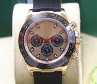 ingrosso orologi da ceramica per uomini-3 orologi di lusso in stile 40mm Cosmograph 1165181 116508 cinturini in gomma con castone in ceramica cinturino no cronografo che lavora orologio meccanico automatico da uomo